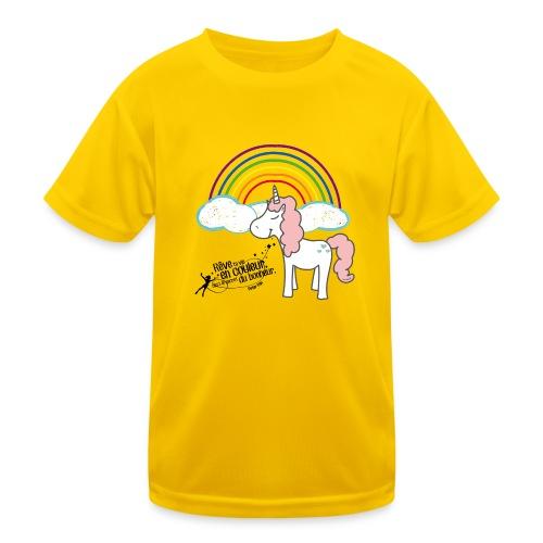 Licorne arc-en-ciel - T-shirt sport Enfant