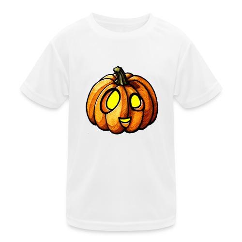 Pumpkin Halloween watercolor scribblesirii - Lasten tekninen t-paita