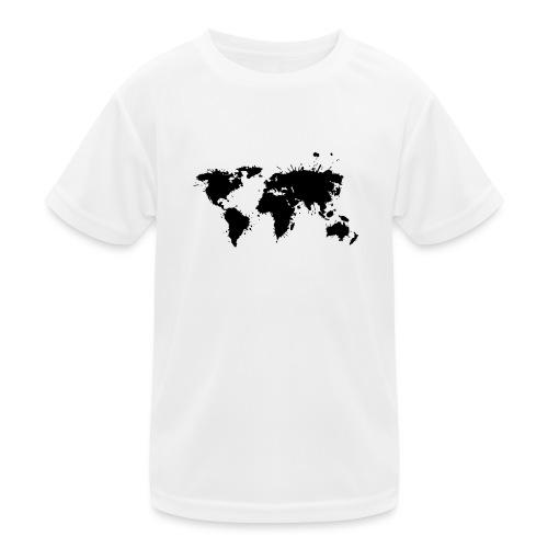 Weltkarte Splash - Kinder Funktions-T-Shirt