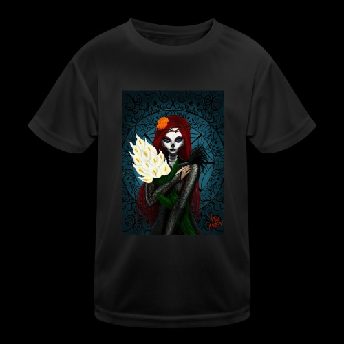 Death and lillies - Kids Functional T-Shirt