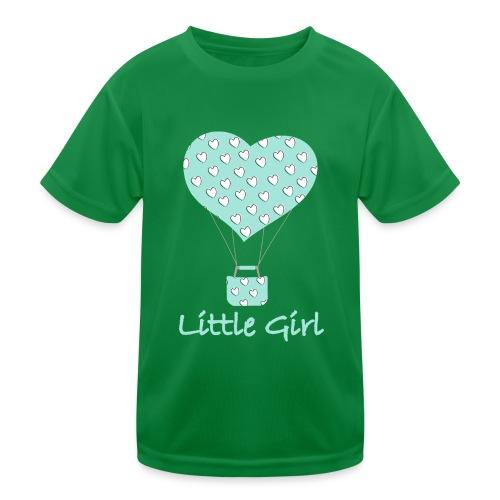 Little Girl in mongolfiera - Maglietta sportiva per bambini