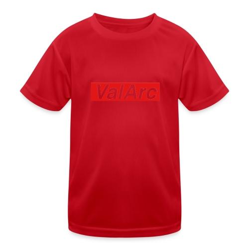 ValArc Text Merch Red Background - T-shirt sport Enfant