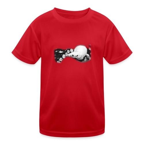 Nakuhiiri, harmaasävyinen - Lasten tekninen t-paita