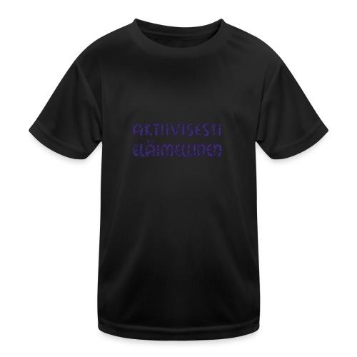 Aktiivisesti eläimellinen - Violetti - Lasten tekninen t-paita