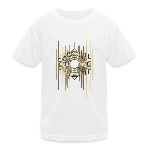 Abstract Geometry Gold Metal Art Deco Vintage - Kids Functional T-Shirt