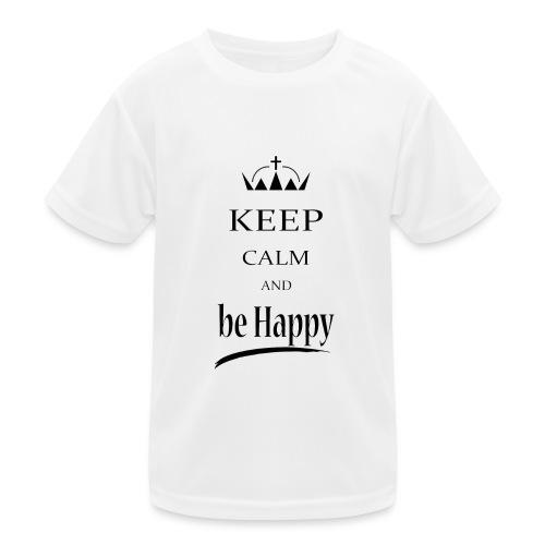 keep_calm and_be_happy-01 - Maglietta sportiva per bambini