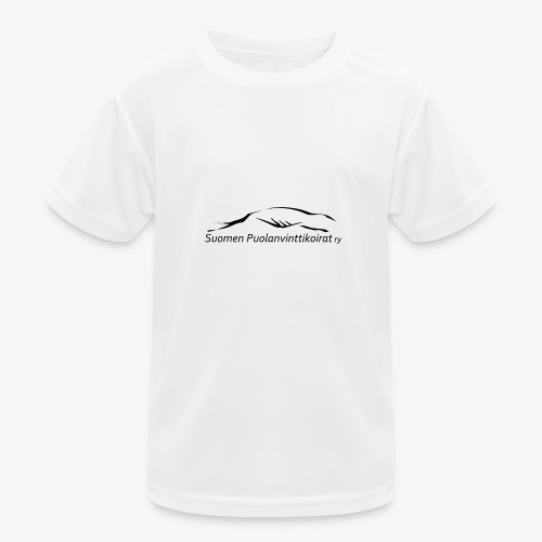 SUP logo musta - Lasten tekninen t-paita