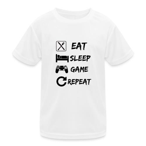Eat_Sleep_Game_Repeat - Camiseta funcional para niños