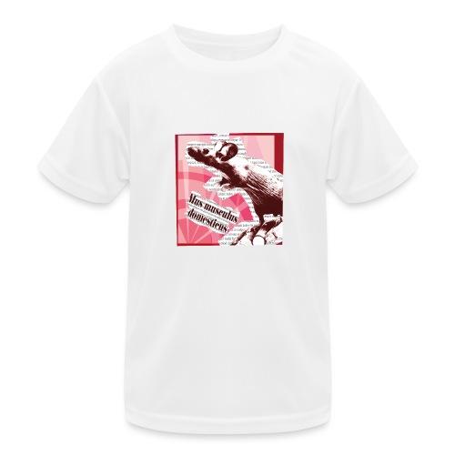 Mus musculus - punainen - Lasten tekninen t-paita