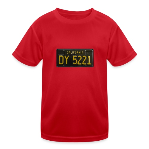 CALIFORNIA BLACK LICENCE PLATE - Kids Functional T-Shirt