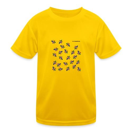 colour flower design tc - Kids Functional T-Shirt
