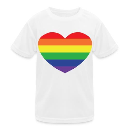 Rainbow heart - Kids Functional T-Shirt