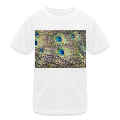 Peacock feathers - Lasten tekninen t-paita