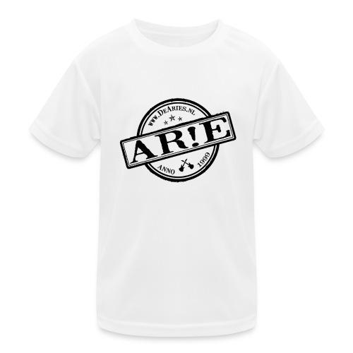 Backdrop AR E stempel zwart gif - Functioneel T-shirt voor kinderen
