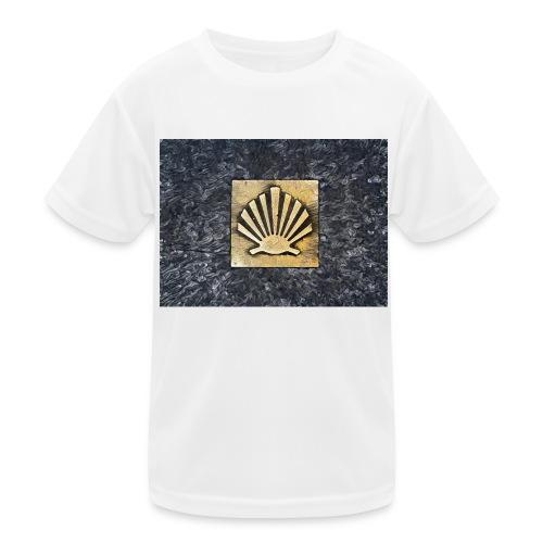 Scallop Shell Camino de Santiago - Kids Functional T-Shirt