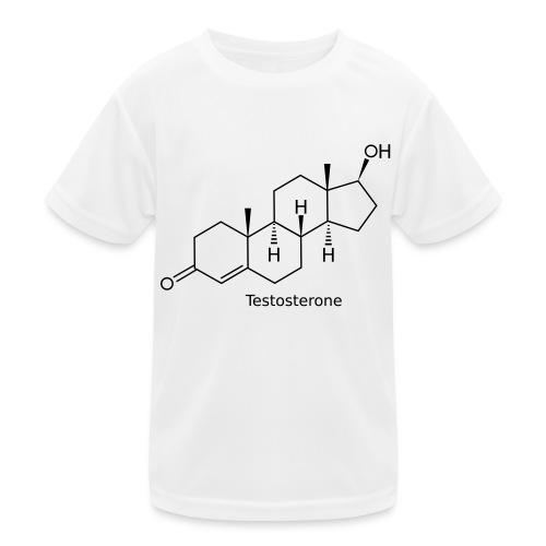 Testosterone - Bodybuilding, Crossfit, Fitness - Kinder Funktions-T-Shirt