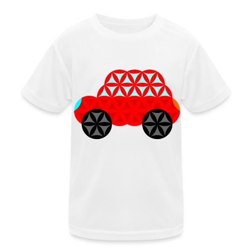 The Car Of Life - M01, Sacred Shapes, Red/R01. - Kids Functional T-Shirt