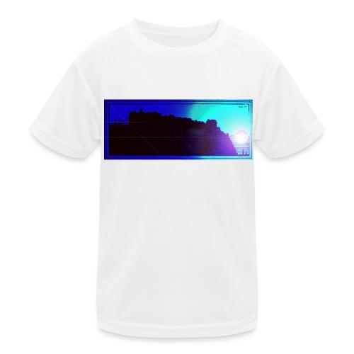 Silhouette of Edinburgh Castle - Kids Functional T-Shirt