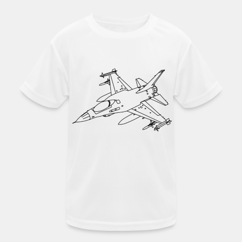 F-16 Viper / Fighting Falcon jet fighter / F16 - Kids Functional T-Shirt