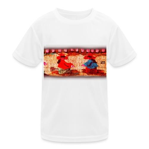 Dos Paisanitas tejiendo telar inca - Kids Functional T-Shirt