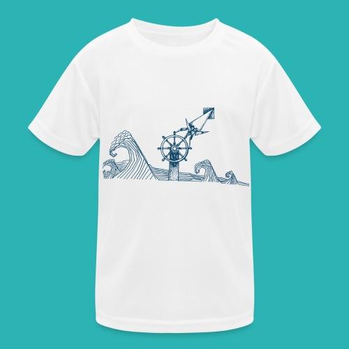 Carta_timone_blu-png - Maglietta sportiva per bambini