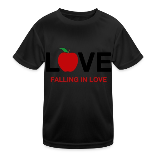 Falling in Love - Black - Kids Functional T-Shirt