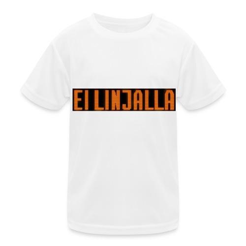 EI LINJALLA - Lasten tekninen t-paita