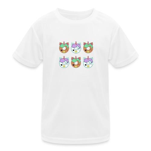 Unicorn Donut - Maglietta sportiva per bambini