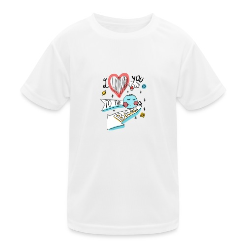 I love you to the moon 2 - T-shirt sport Enfant