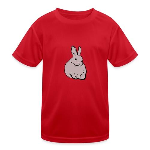 Piirros pupu - väri - Lasten tekninen t-paita