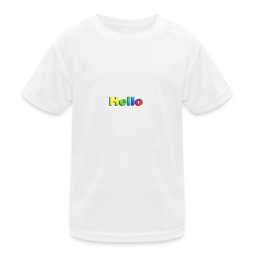 Hello - Funkcjonalna koszulka dziecięca