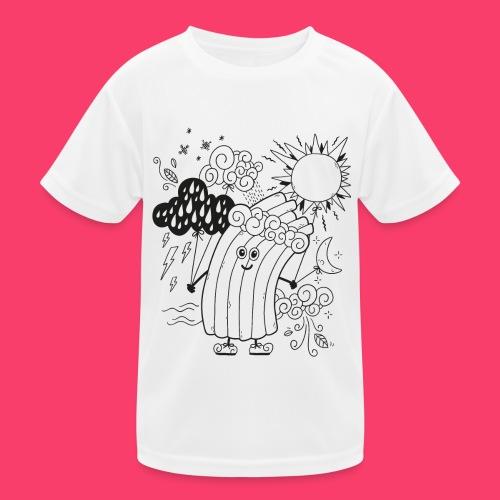 Rudi Regenbogen Wetter-Motiv zum Ausmalen - Kinder Funktions-T-Shirt