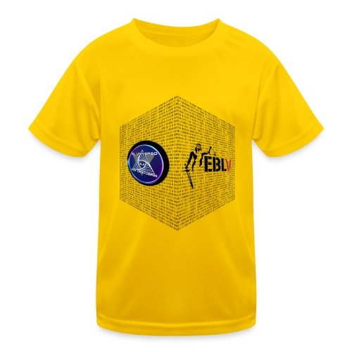disen o dos canales cubo binario logos delante - Kids Functional T-Shirt