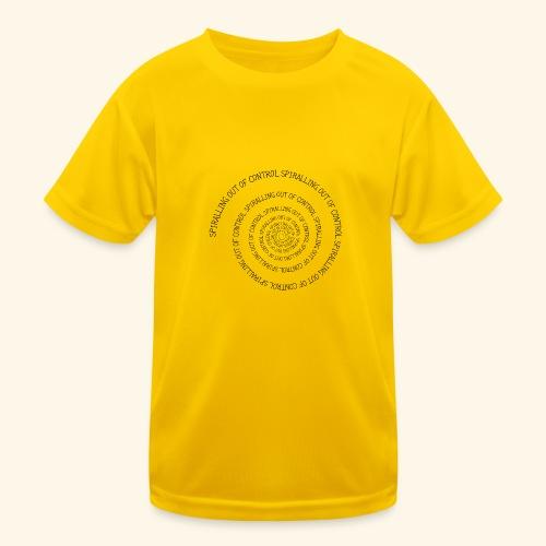 SPIRAL TEXT LOGO BLACK IMPRINT - Kids Functional T-Shirt