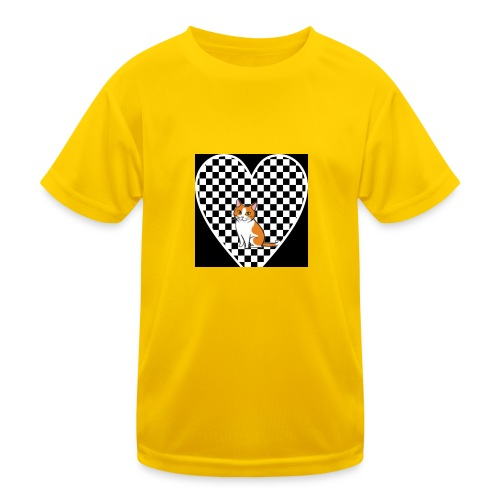 Charlie the Chess Cat - Kids Functional T-Shirt
