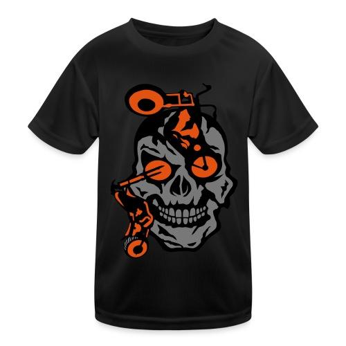 tete mort moto motrocycle oeil skull - T-shirt sport Enfant
