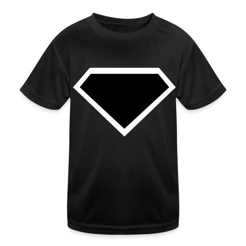 Diamond Black - Two colors customizable - Functioneel T-shirt voor kinderen