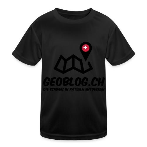 Logo+Schriftzug-hoch - Kinder Funktions-T-Shirt