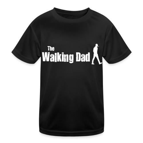 the walking dad white text on black - Kids Functional T-Shirt