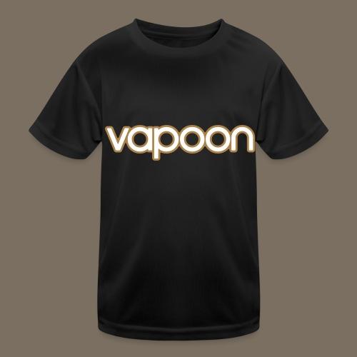 Vapoon Logo simpel 2 Farb - Kinder Funktions-T-Shirt