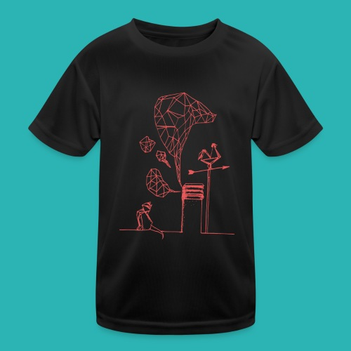 Carta_gatta_pink-png - Maglietta sportiva per bambini