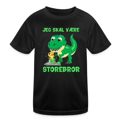 Jeg skal være storebror dinosaur gave dino - Funktionsshirt til børn