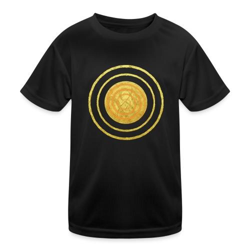 Glückssymbol Sonne - positive Schwingung - Spirale - Kinder Funktions-T-Shirt