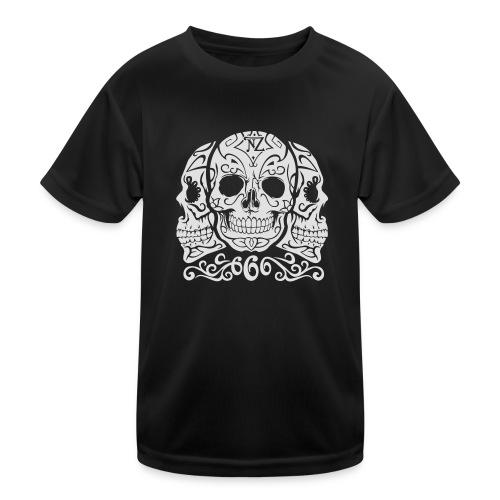 Skull Dia de los muertos - T-shirt sport Enfant