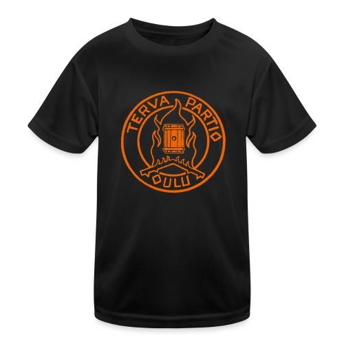 Tervapartio_oranssi - Lasten tekninen t-paita