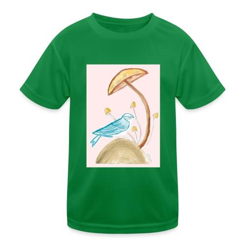 fungo con uccello - Maglietta sportiva per bambini