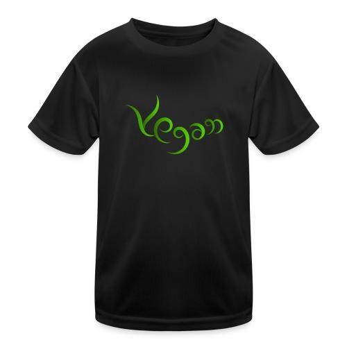 Vegaani käsinkirjoitettu design - Lasten tekninen t-paita