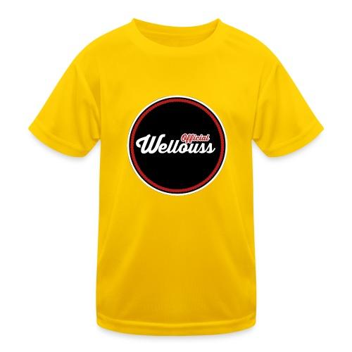 Wellouss Fan T-shirt   Rood - Functioneel T-shirt voor kinderen