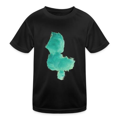 grünes Küken - Kinder Funktions-T-Shirt