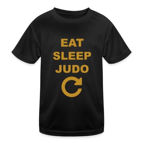 Eat sleep Judo repeat - Funkcjonalna koszulka dziecięca